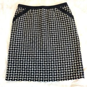 TALBOTS Wool Patterned Skirt, 14